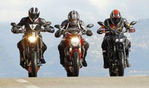 Att med tre fullständigt olika motorcykeltyper hitta den roligaste kombination av cylinderantal, effekt och vikt.